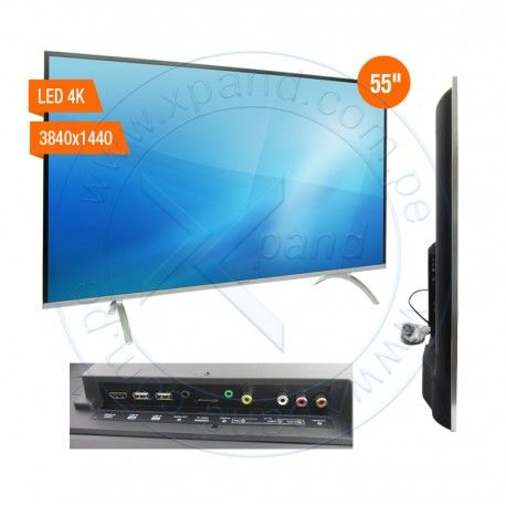 "Televisor Smart Advance ADVK5, 55"" LED 4K UHD, 3840 x 2160, ISDB-T, Android 5.1."