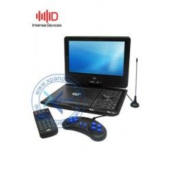 "Reproductor de DVD portátil Intense Devices ID-LP960, 9"" TFT giratoria, TV, FM, USB, SD."