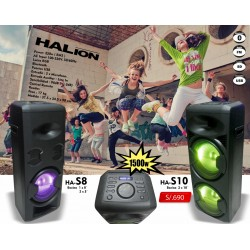 PARLANTE HALION HA-S10 - USB-SD-FM-BT